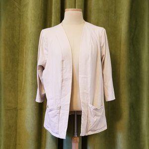 Denim&Co. Beige Jersey Knit Jacket Size XL